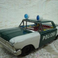 Juguetes antiguos de hojalata: COCHE DE POLICIA JAPONES DE CHAPA AÑOS 70. Lote 13191485
