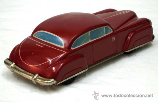 Juguetes antiguos de hojalata: Coche mecanico hojalata Distler alemania años 50 Funciona - Foto 2 - 13598414