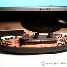 Juguetes antiguos de hojalata: BARCO DE LA CASA RICO FUNCIONANDO EN. Lote 26154755