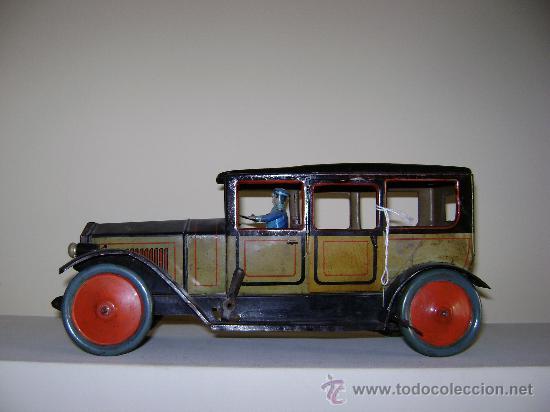 COCHE ALEMAN TIPCO (Juguetes - Juguetes Antiguos de Hojalata Internacionales)