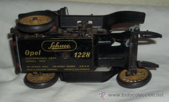 Juguetes antiguos de hojalata: OPEL DE SCHUCO,AÑOS 50,A CUERDA - Foto 5 - 23813128