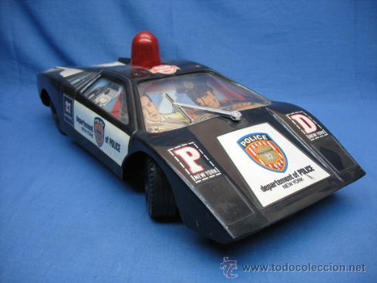 COCHE DE POLICIA DE NUEVA YORK (Juguetes - Juguetes Antiguos de Hojalata Internacionales)