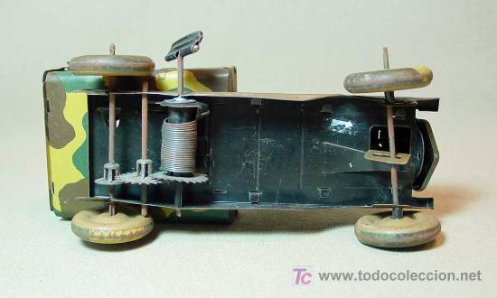 Juguetes antiguos de hojalata: CAMION MILITAR, CAMUFLADO, CR, CHARLES ROSSIGNOL, FRANCIA, 1930s - Foto 3 - 18304695