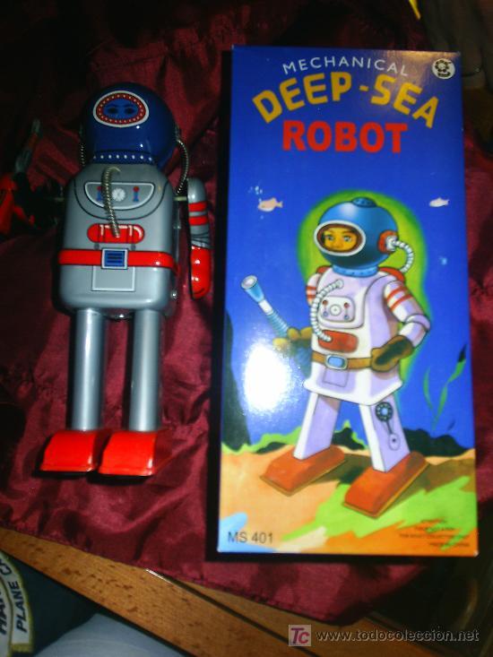 ROBOT DEEP-SEA A CUERDA HOJALATA (Juguetes - Juguetes de Hojalata: Reproducciones y Actuales )