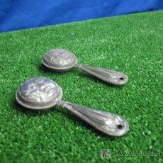 Juguetes antiguos de hojalata: SONAJEROS EN HOJALATA. Lote 19115766