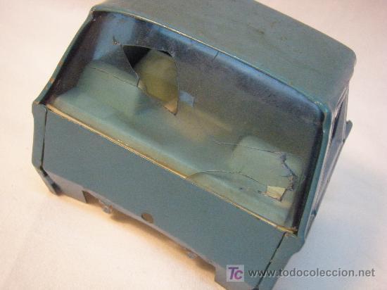 Juguetes antiguos de hojalata: CAMION TRAILER DE HOJALATA DE GOZAN DE LOS AÑOS 70 - Foto 7 - 26758400