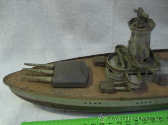 Juguetes antiguos de hojalata: Muy raro barco antiguo de la casa alemana Arnold. Graf Spee. - Foto 2 - 27460020