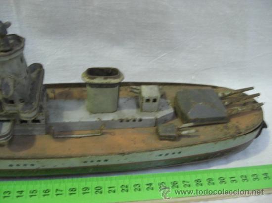 Juguetes antiguos de hojalata: Muy raro barco antiguo de la casa alemana Arnold. Graf Spee. - Foto 3 - 27460020