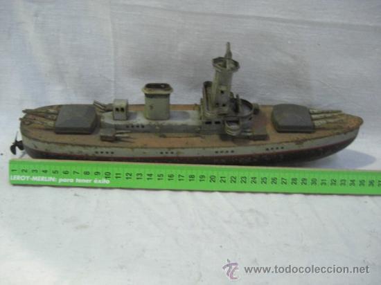 Juguetes antiguos de hojalata: Muy raro barco antiguo de la casa alemana Arnold. Graf Spee. - Foto 4 - 27460020