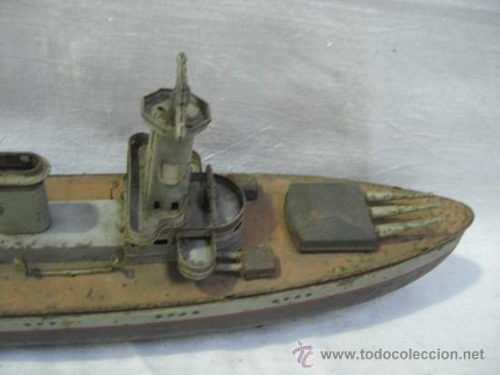 Juguetes antiguos de hojalata: Muy raro barco antiguo de la casa alemana Arnold. Graf Spee. - Foto 5 - 27460020