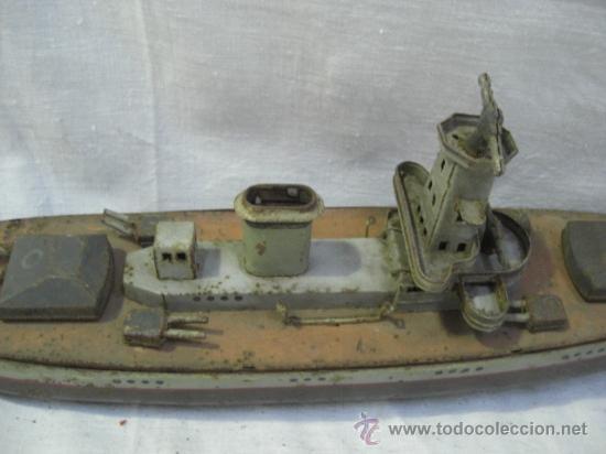 Juguetes antiguos de hojalata: Muy raro barco antiguo de la casa alemana Arnold. Graf Spee. - Foto 6 - 27460020