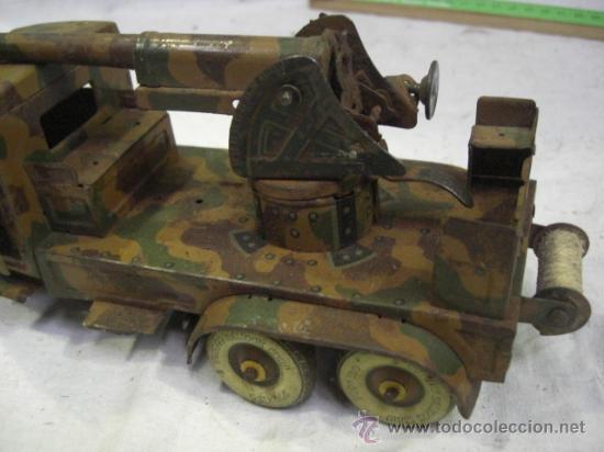 Juguetes antiguos de hojalata: Juguete Aleman. Made in Germany. Camión con cañón de la casa TIPPCO. - Foto 4 - 27460022