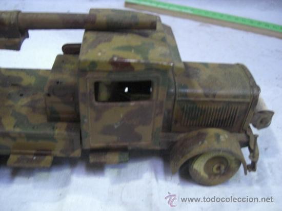 Juguetes antiguos de hojalata: Juguete Aleman. Made in Germany. Camión con cañón de la casa TIPPCO. - Foto 6 - 27460022