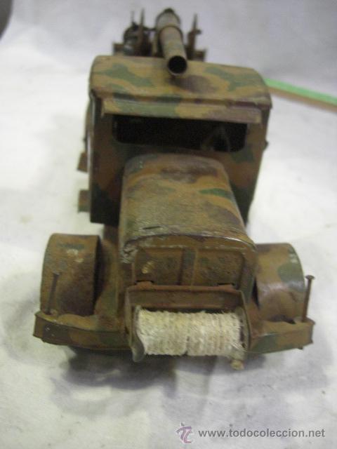 Juguetes antiguos de hojalata: Juguete Aleman. Made in Germany. Camión con cañón de la casa TIPPCO. - Foto 8 - 27460022