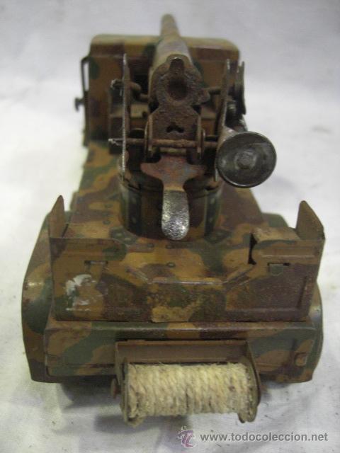 Juguetes antiguos de hojalata: Juguete Aleman. Made in Germany. Camión con cañón de la casa TIPPCO. - Foto 9 - 27460022