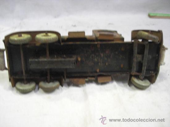 Juguetes antiguos de hojalata: Juguete Aleman. Made in Germany. Camión con cañón de la casa TIPPCO. - Foto 10 - 27460022