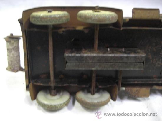 Juguetes antiguos de hojalata: Juguete Aleman. Made in Germany. Camión con cañón de la casa TIPPCO. - Foto 11 - 27460022