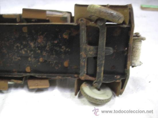 Juguetes antiguos de hojalata: Juguete Aleman. Made in Germany. Camión con cañón de la casa TIPPCO. - Foto 12 - 27460022