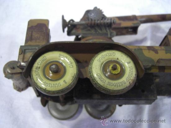 Juguetes antiguos de hojalata: Juguete Aleman. Made in Germany. Camión con cañón de la casa TIPPCO. - Foto 13 - 27460022