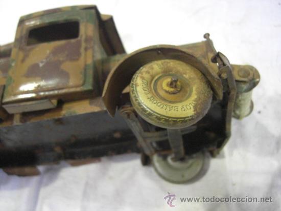 Juguetes antiguos de hojalata: Juguete Aleman. Made in Germany. Camión con cañón de la casa TIPPCO. - Foto 14 - 27460022