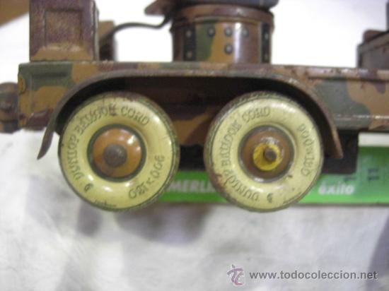 Juguetes antiguos de hojalata: Juguete Aleman. Made in Germany. Camión con cañón de la casa TIPPCO. - Foto 15 - 27460022