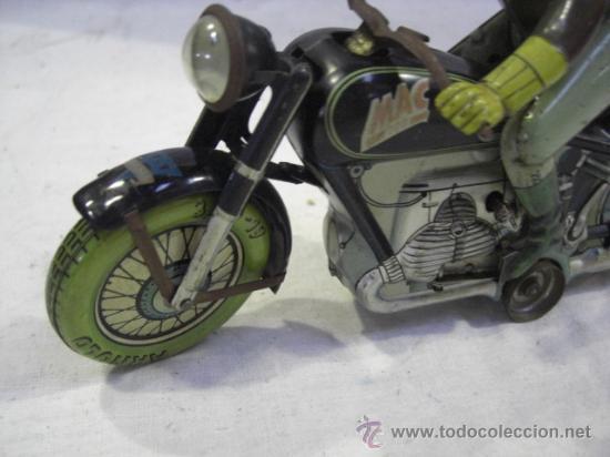 Juguetes antiguos de hojalata: Moto MAC.Juguete Alemán. Fabricada por ARNOLD. - Foto 3 - 26272199