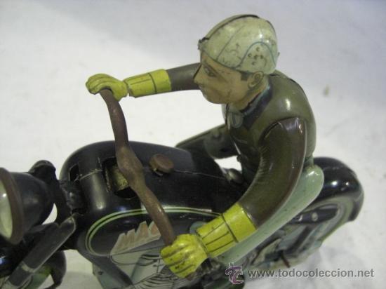 Juguetes antiguos de hojalata: Moto MAC.Juguete Alemán. Fabricada por ARNOLD. - Foto 5 - 26272199