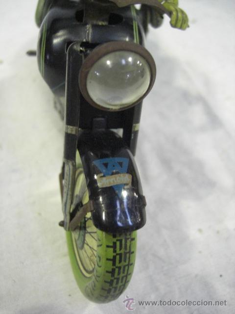 Juguetes antiguos de hojalata: Moto MAC.Juguete Alemán. Fabricada por ARNOLD. - Foto 6 - 26272199
