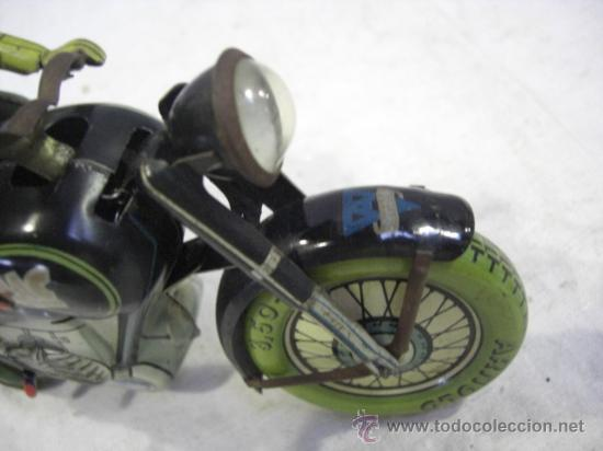 Juguetes antiguos de hojalata: Moto MAC.Juguete Alemán. Fabricada por ARNOLD. - Foto 7 - 26272199