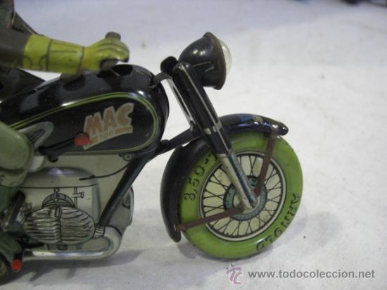 Juguetes antiguos de hojalata: Moto MAC.Juguete Alemán. Fabricada por ARNOLD. - Foto 8 - 26272199