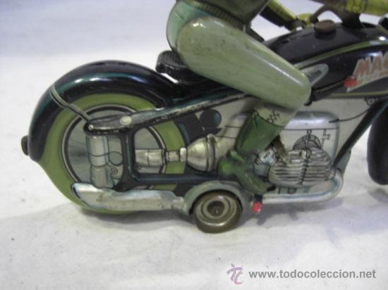 Juguetes antiguos de hojalata: Moto MAC.Juguete Alemán. Fabricada por ARNOLD. - Foto 9 - 26272199