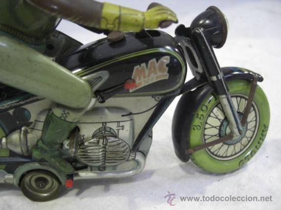 Juguetes antiguos de hojalata: Moto MAC.Juguete Alemán. Fabricada por ARNOLD. - Foto 10 - 26272199