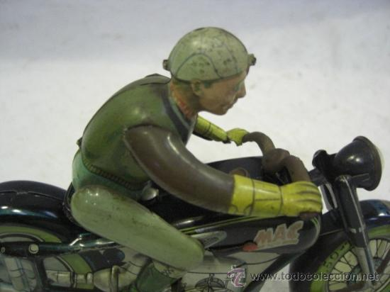 Juguetes antiguos de hojalata: Moto MAC.Juguete Alemán. Fabricada por ARNOLD. - Foto 11 - 26272199