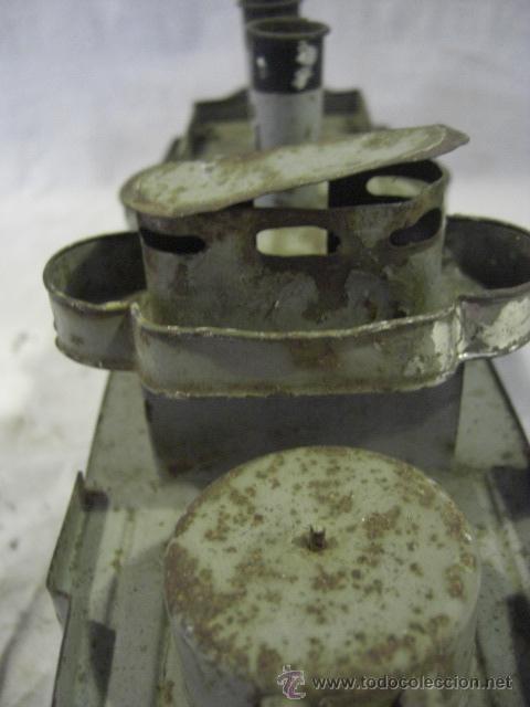 Juguetes antiguos de hojalata: Barco. Crucero. Acorazado. Juguete Alemán. Fabricado por BING. Hojalata. - Foto 9 - 26651974