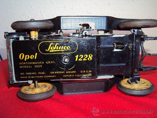 Juguetes antiguos de hojalata: (JH-1)COCHE OPEL REF.1228 MARCA SCchuco ALEMAN A CUERDA - Foto 5 - 22716748