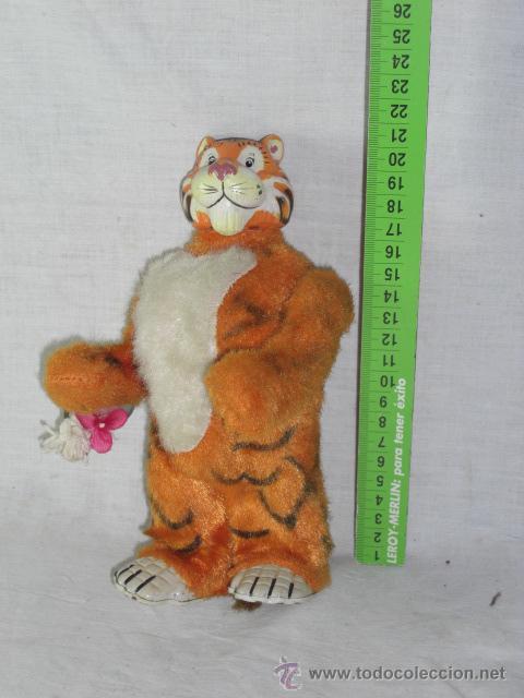 Juguetes antiguos de hojalata: Tigre. Hojalata. Fabricado en Japón. Japan. Mark toys 1966. - Foto 2 - 27244506