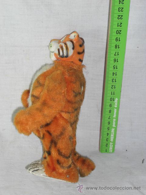 Juguetes antiguos de hojalata: Tigre. Hojalata. Fabricado en Japón. Japan. Mark toys 1966. - Foto 3 - 27244506