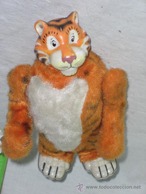 Juguetes antiguos de hojalata: Tigre. Hojalata. Fabricado en Japón. Japan. Mark toys 1966. - Foto 6 - 27244506