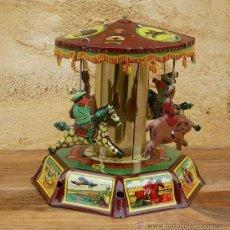 Juguetes antiguos de hojalata - tiovivo de hojalata, juego - 27481648