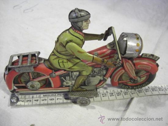 Juguetes antiguos de hojalata: Moto fabricada en Alemania. Union Cord. A 643. Arnold. Hojalata. - Foto 2 - 26829868