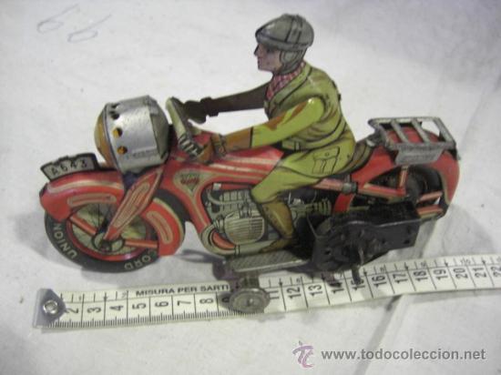 Juguetes antiguos de hojalata: Moto fabricada en Alemania. Union Cord. A 643. Arnold. Hojalata. - Foto 13 - 26829868