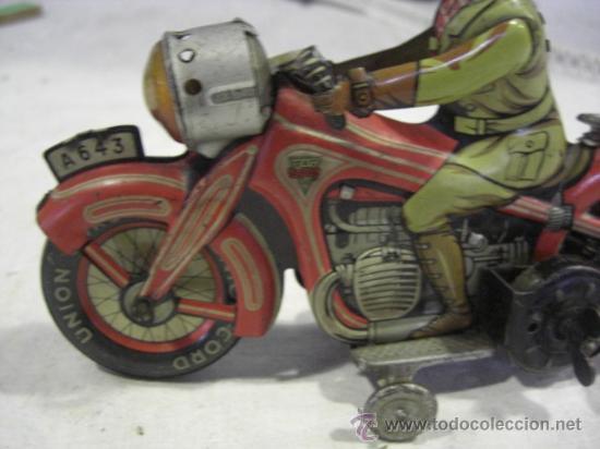 Juguetes antiguos de hojalata: Moto fabricada en Alemania. Union Cord. A 643. Arnold. Hojalata. - Foto 8 - 26829868