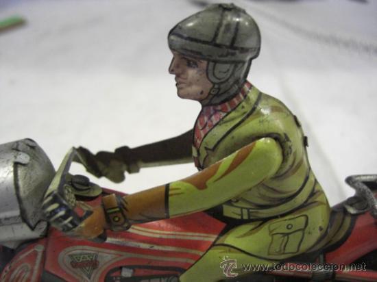 Juguetes antiguos de hojalata: Moto fabricada en Alemania. Union Cord. A 643. Arnold. Hojalata. - Foto 6 - 26829868