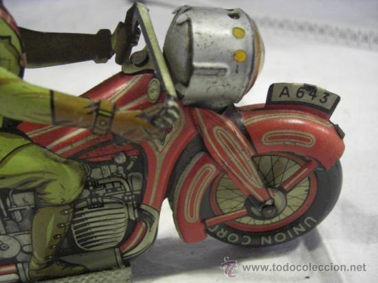 Juguetes antiguos de hojalata: Moto fabricada en Alemania. Union Cord. A 643. Arnold. Hojalata. - Foto 5 - 26829868