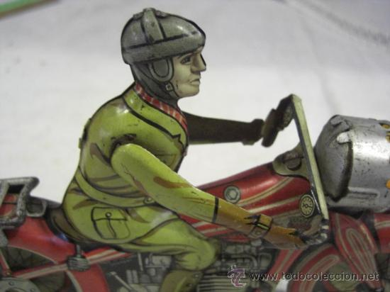 Juguetes antiguos de hojalata: Moto fabricada en Alemania. Union Cord. A 643. Arnold. Hojalata. - Foto 3 - 26829868