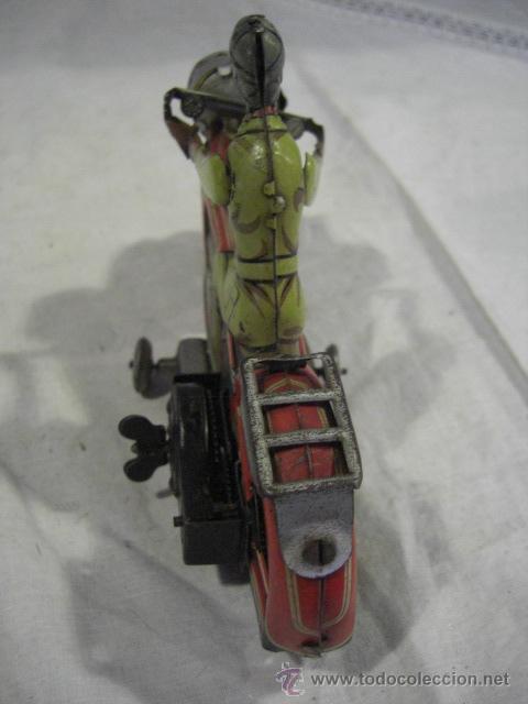 Juguetes antiguos de hojalata: Moto fabricada en Alemania. Union Cord. A 643. Arnold. Hojalata. - Foto 10 - 26829868