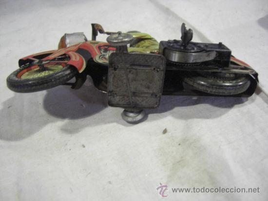 Juguetes antiguos de hojalata: Moto fabricada en Alemania. Union Cord. A 643. Arnold. Hojalata. - Foto 12 - 26829868