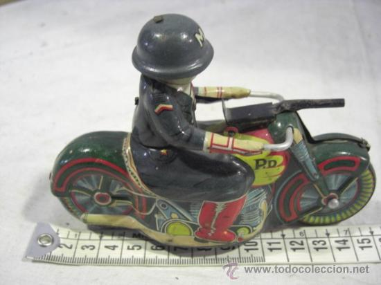 Juguetes antiguos de hojalata: Moto fabricada en Japón. Japan. PD. Hojalata. - Foto 2 - 26914079