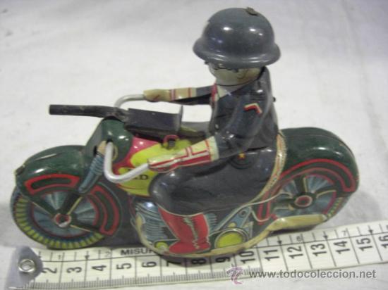 Juguetes antiguos de hojalata: Moto fabricada en Japón. Japan. PD. Hojalata. - Foto 3 - 26914079