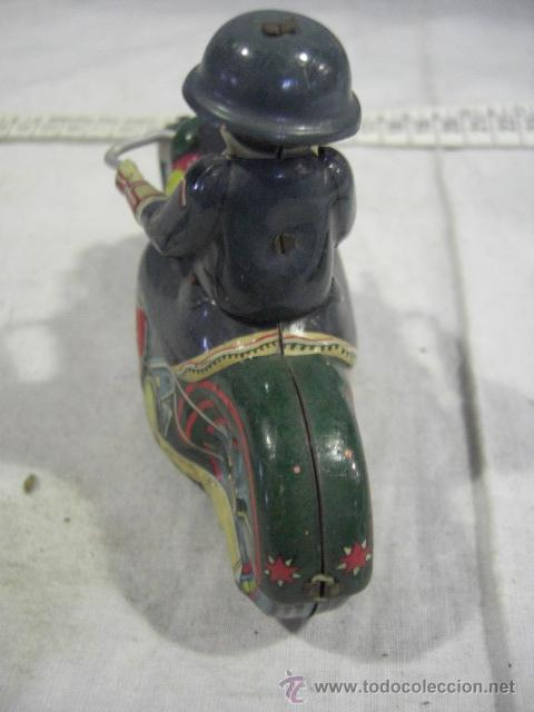 Juguetes antiguos de hojalata: Moto fabricada en Japón. Japan. PD. Hojalata. - Foto 6 - 26914079
